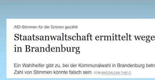 Wahlbetrug in Brandenburg